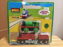 BRIO Thomas the Tank Engine Percy&James twin pack Toy Used H32