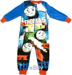 Boys Thomas The Tank Engine Onesie Thomas All In One Fleece Sleepsuit From