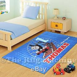 COOL THOMAS THE TANK ENGINE KIDS FUN PLAY RUG 133x200cm NON-SLIP & WASHABLE NEW