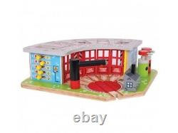 ENGINE SHED fits Wooden Train Track Set (Brio Thomas) NEW BOXED