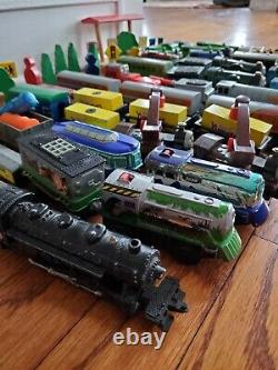HUGE LOT of Thomas the Train Wooden, BRIO and diecast engines, cars, extras