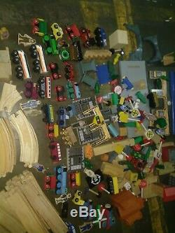 HUGE Lot Of Tracks/Accessories Thomas and Friends Train BRIO Wooden 100+ Pieces