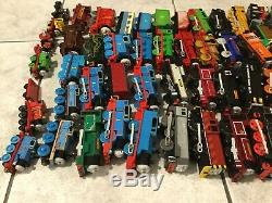 Huge Mixed Lot 35+ Engines & 70+ Cars Thomas The Train Electric Motorized Wood