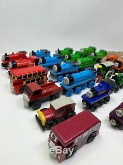Large Vintage Thomas and Friends Wooden train lot of 30+, People and Signs