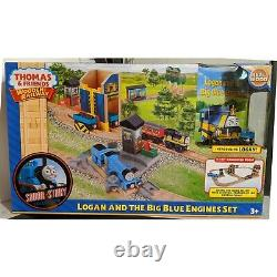 Logan and the Big Blue Engines Set Thomas & Friends Wooden Railway NEW IN BOX