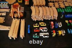 Lot 200 + Piece Assorted Wooden Train Railway Track & Accessories Thomas + More