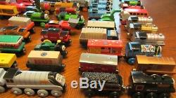 Lot Of 60+ Pc Thomas The Train & Friends Wooden Trains