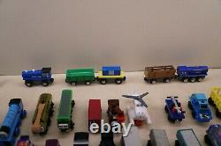Lot of 62 Pieces Thomas The Train Wooden Railway Trains Vehicles Lots Of Rares