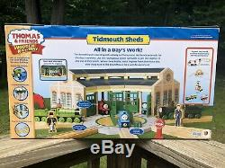 NEW Thomas & Friends Wooden Railway Train TIDMOUTH SHEDS Learning Curve New