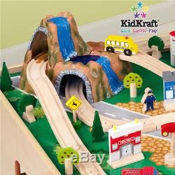 New Quality Wood Train Set Track Puzzle Table Top Pretend Play Toy