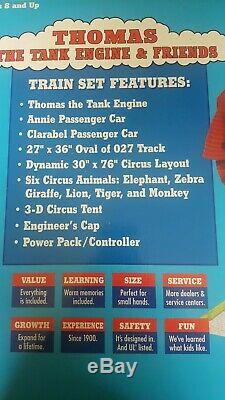 RARE NOT OPENED 1999 Limited Lionel Thomas The Tank Train Engine Circus Playset