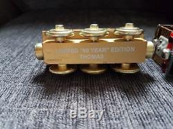 Rare Gold Thomas the tank engine and Bronze Toby. (collectors item)