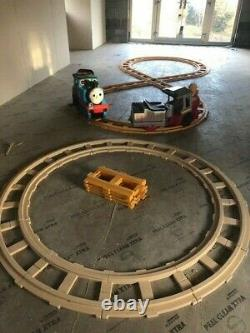 Ride on battery powered Thomas the Tank Engine with track