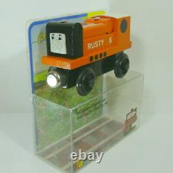 SAFELY STORED 25yrs 1992 v2 Thomas Wooden Railway RUSTY Printed Graphics V$1200