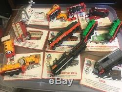 THOMAS THE TRAIN TANK ENGINE & FRIENDS, DIECAST BY ERTL, VINTAGE 61 pieces+cards