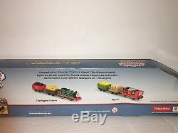 THOMAS Train Trackmaster Motorized Glynn and 2 Cars With Cargo