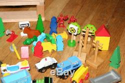 THOMAS & other WOOD TRAINS, Power, Oil, FIRE STATION LOT