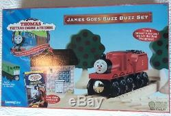 THOMAS the TANK JAMES GOES BUZZ BUZZ SET WithJAMES RED NOSE! RARE