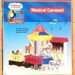 Thomas & Friends Wooden Railway Musical Carousel Extremely Rare 2002 HTF