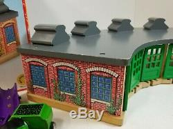 Thomas & Friends Wooden Railway Roundhouse HUGE Lot Cars Trains Extras Sodor