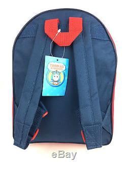 Thomas The Tank Engine Boys Blue Red Nursery School Backpack Rucksack Bag New