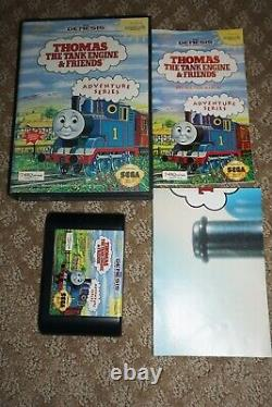Thomas The Tank Engine & Friends (Sega Genesis) Complete with Poster GREAT Shape