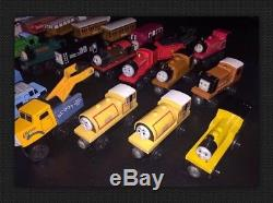 Thomas The Tank Engine & Friends Wooden Trains Lot of 24 + Carts