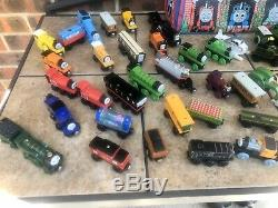 Thomas The Tank Engine Lot of Over 70 Wooden Trains Magnetic Vintage. Plus Bag