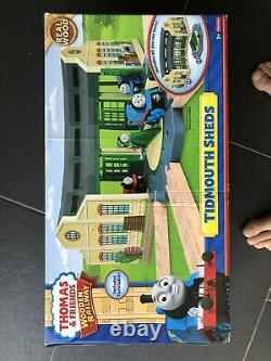 Thomas The Tank Engine Wooden train table set inc tidmouth sheds and trains