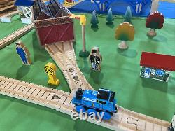 Thomas Wooden Train Set Day at The Works 1997! Shed Mill Boat Bridge Culdee Lot