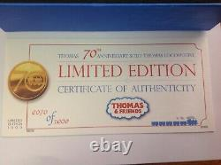 Thomas the Tank Engine 70th Anniversary LTD EDITION CERTIFICATE NO 70 HORNBY OO