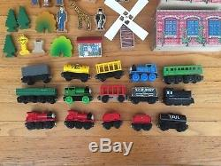 Thomas the Tank Engine Lot with matching wooden carrying case 150 pieces 2006