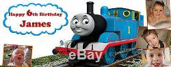 Thomas the Tank Engine PERSONALISED PARTY BANNER Birthday, Christening