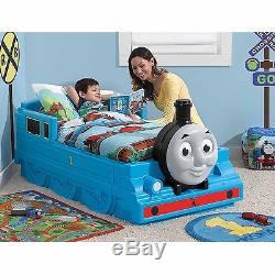 Toddler Bed Thomas the Tank Engine Easy Assembly Made of Sturdy Plastic, Step2