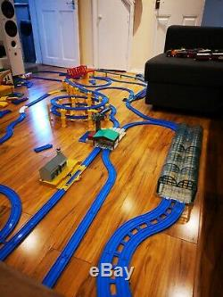 Tomy Trackmaster Thomas The Tank Engine Blue Track, 250+ Pieces
