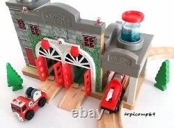 Wooden Railway Sodor Fire Station & Track Play Set BRIO ELC THOMAS AND FRIENDS